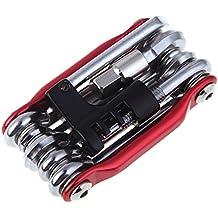 Juego de herramientas para reparación de bicicletas, de Everpert, 11 en 1 con llave