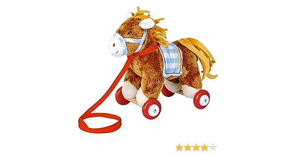 Spiegelburg 14417 Pony Sam sur roulettes en bois Mon Petit Poney