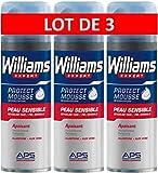 Williams Mousse à Raser Peau Sensible 200ml - Lot de 3