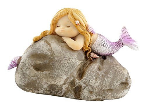 Top Collection Miniatur-Fairy Garden und Terrarium Little Mermaid auf Rock Statue