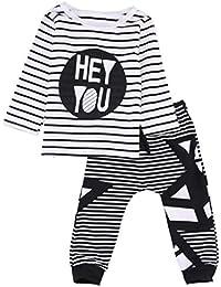 Longra Ropa de Niño Niños Traje Ropas Tops de Camisa de Impresión + Pantalones Largos Pantalones