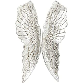 KARE Wall Decoration Angel Wings, Silver, 5 x 61 x 106 cm