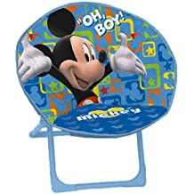 arditex wd7418 lune mickey mouse disney fauteuil polyester bleu 50 x 50 x 50 cm - Fauteuil Mickey