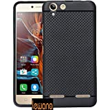 Lenovo Vibe K5 Plus Dotted Designed High Quality Soft Rubberised Back Case Cover - Black