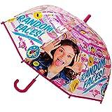 alles-meine.de GmbH 2 Stück _ Regenschirme / Kinderschirme - Disney - Soy Luna - durchsichtig & transparent - Ø 74 cm - durchscheinend - klar - Kinder Stockschirm - für Mädchen F..