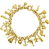 Adara 9 ct Yellow Gold 24 Charm Belcher of Length 18.8 cm with Width 0.5/2 cm