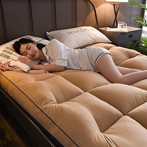 Huayer Komfort Matratze Bettmatte Thick Sleep Matratze Topper, Federn Futon, Tatami-Fußmatte Japanischer Plüsch...