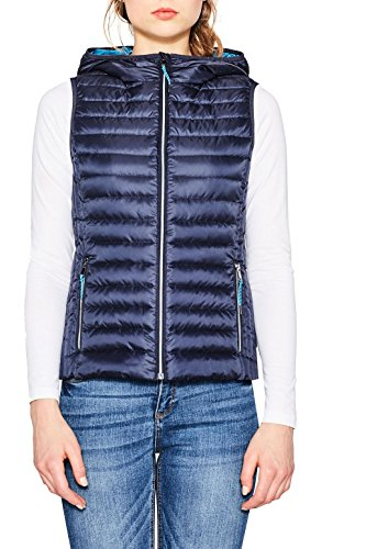 ESPRIT Damen Outdoor Weste 077EE1H001 Blau (Navy 400), X-Large