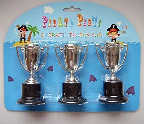 Pirate Party - 2 Packs of 3 Pirate Trophy Cups - A Great Party Bag Filler! PJOW