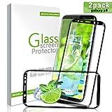 Verre Trempé Galaxy S8 Couverture Complète, Aonsen [Lot de 2] 3D en Verre Trempé écran Protecteur Vitre, Ultra Résistant Dureté 9H Glass Pas de bulles Anti Rayures Pour Samsung Galaxy S8 - Noir