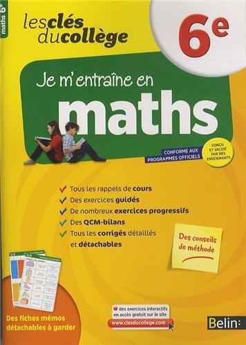 Clés du collège - Maths 6e por Belin