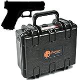 Elephant E120 armi Pistola Revolver Custodia rigida e ideale per piccoli e medi pistola e riviste, ideale per lo sport del tiro al poligono, sicura sistemazione o da viaggio per Glock 19, vista esplosa di una Sig Sauer P226 & & M p Smith Wesson sotto 8
