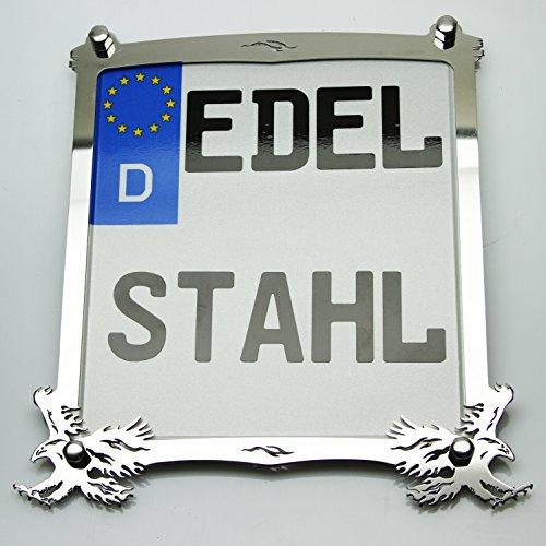Exklusive Motorrad Kennzeichenhalter Edelstahl Hochglanz poliert Adler Custom