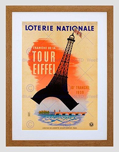 VINTAGE TRAVEL ADVERT TRANCHE TOUR EFFIEL TOWER FRAMED ART PRINT MOUNT B12X11893