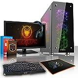 Fierce Sniper RGB/RVB PC Gamer Paquet - Vite 4.6GHz Hex-Core Intel Core i7 8700K, Refroidisseur liquide tout-en-un, 240Go SSD, 1To Disque Dur, 16Go of 2133MHz DDR4 RAM / Mémoire, NVIDIA GeForce GTX 1050 2Go, Gigabyte Z370 Ultra Gaming Carte Mère, GameMax Sirius RGB/RVB Boite D'ordinateur, HDMI, USB3, Wi - Fi, Parfait pour un jeu compétitif, Windows 10 installé, Clavier (UK/QWERTY), Souris, moniteur 24 pouces, casque, 3 Ans De Garantie 947076
