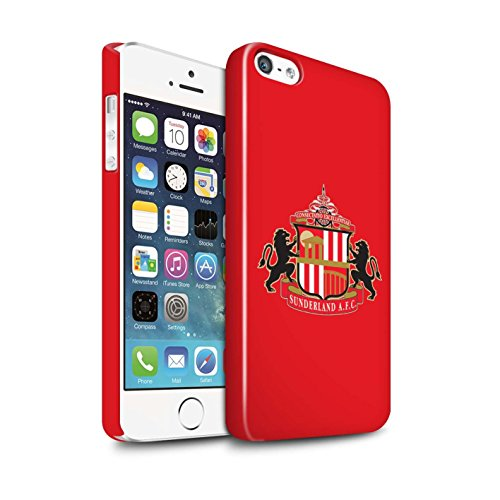 Offiziell Sunderland AFC Hülle / Glanz Snap-On Case für Apple iPhone 5/5S / Pack 6pcs Muster / SAFC Fußball Crest Kollektion Rot