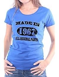 Mister Merchandise Femme Chemise T-Shirt Made in 1967 All Original Parts Years Jahre Geburtstag