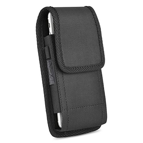 Samsung Note 8 Vertikal Gürtel Tasche,iNNEXT Gürteltasche Holster Halter Gürtelclip vertikal Holster Halter aus Leder, der Fall Für iPhone 6 Plus 7Plus/Samsung S8 Plus/Galaxy Note 5/4/2 & S6 Edge Plus, Galaxy S7 Edge (schwarz) (Iphone 6 Plus Stift)