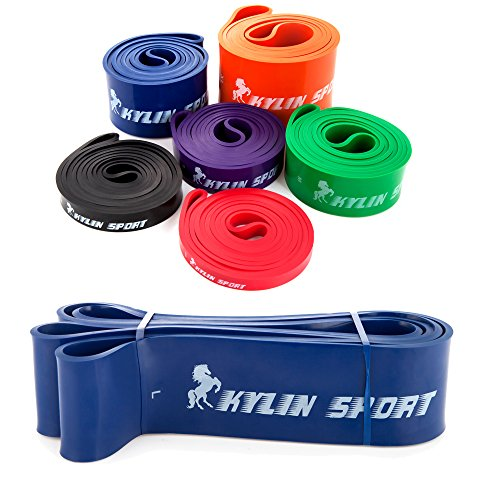 kylin-sport-resistance-bands-pull-up-training-yoga-pilates-elastic-loop-65-to-175-lbs-blue-for-cross