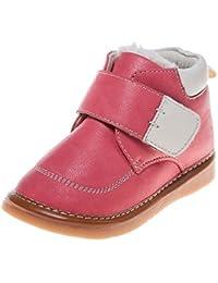 Little Blue Lamb Squeaky Zapatos Botas Boots plisadas Hummer Rojo Rosa