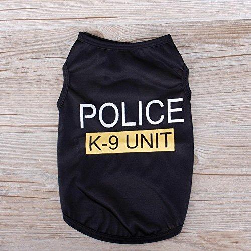 Teabelle klein Katze Hund Puppy Weste T-Shirt Police Patten Haustier Kleidung Sommer Bekleidung Kostüme Größe M - Wirklich Coole Kostüm