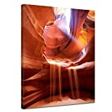 "Kunstdruck mit Winter SALE ""Antelope Canyon IV - Arizona USA"" Bild auf Leinwand - 60x80 cm - Leinwandbilder - Bilder als Leinwanddruck - Wandbild von Bilderdepot24"