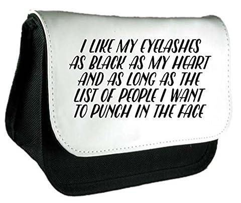 I like My cils aussi Noir que My Heart Make Up Statement Pochette ou Trousse taille unique noir