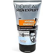 L'Oréal Paris Men Expert Hydra Energetic Gel Limpiador barba de 3 días, 1er Pack (1 x doce y quince l)