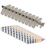 PARTITUKI Pack de 10 Aviones Desmontables de Color Gris y 10 Sets de Ceras de 6 Colores Cada Uno. Ideal como Detalles de Fiestas de Cumpleaños Infantiles