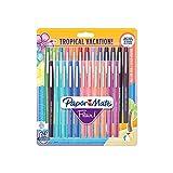 PaperMate Flair stylo-feutre, pointe moyenne 1,1mm, couleurs Tropical, lot de 24