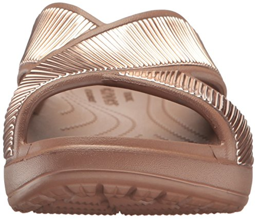 Crocs - Sloane Embellished Xstrap, Sandali infradito Donna Arancione (Bronze/Bronze)