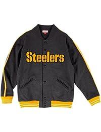 """Pittsburgh Steelers Mitchell & Ness NFL """"Play Call"""" Men's Premium Fleece Jacket Veste"""