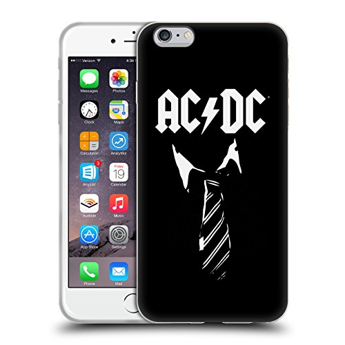 Ufficiale AC/DC ACDC Cravatta Iconico Cover Morbida In Gel Per Apple iPhone 6 Plus / 6s Plus