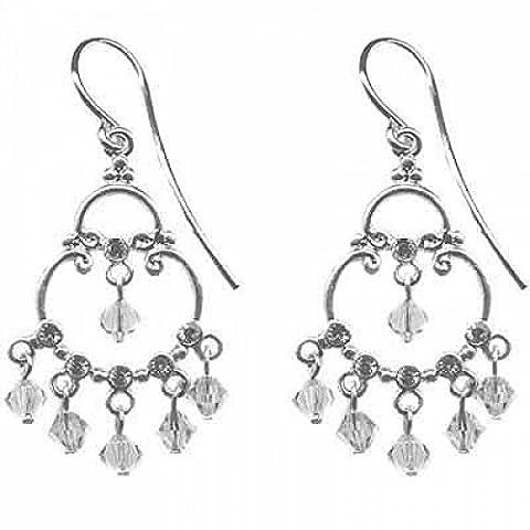 Sterling Silver Swarovski Crystal & CZ Chandelier