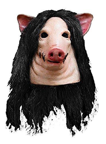 Saw Schweinemaske Maske Schwein Jigsaw zum Halloween (Saw Kostüm Schwein)