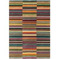 Moderna Designer tappeto JAUDY Stripe Tappeto 120x180cm multi multicolor lana