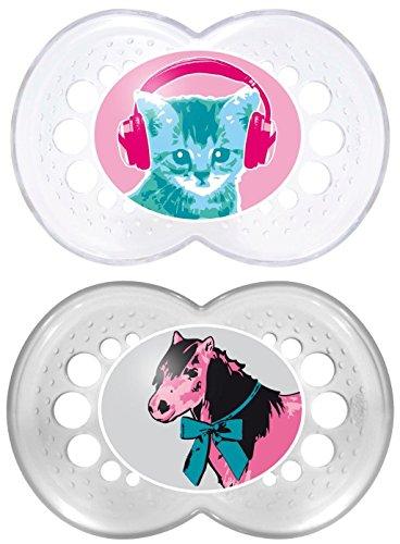 MAM Original Silikon 6-16 Monate, Doppelpackung, Sonderedition (Katze - Pferd)