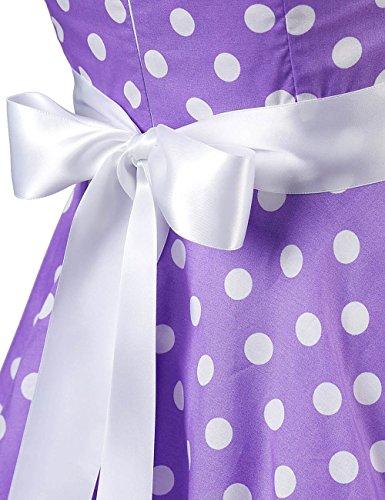 MicBridal®robe de rockabilly courte robe vintage années 50 Classique Vintage 1950S Style pour femme Robe de Cérémonie Soirée Cocktail Dessin 6