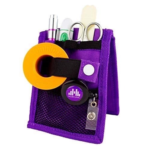 Mobiclinic | MINIKEEN\'S | Organizador de enfermería | Color morado | Para bolsillo de bata o pijama | Nuevo tamaño más estrecho | Perfecto para enfermeros y profesionales de la salud