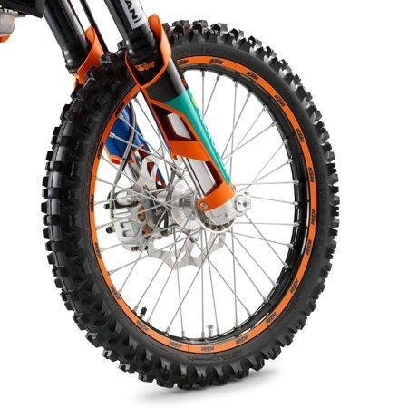 NEW KTM RIM DECALS STICKER KIT ORANGE FITS ALL 125-530 CC 1998-2012 78009099000 by KTM