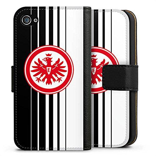 Apple iPhone X Silikon Hülle Case Schutzhülle Eintracht Frankfurt Fanartikel Fußball SGE Sideflip Tasche schwarz