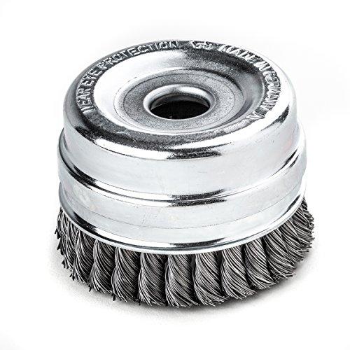 Tressé topfbrsten Bague avec les colliers 100 mm x 26 Z STH lisse fil en acier 0,50 mm alésage 22,2 mm