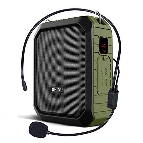 WinBridge Voice Amplifier mit Wired Mikrofon Headset Megaphon Clip Amp Tragbare Bluetooth Speaker Power Bank Wasserdicht IPX5 für Outdoor Aktivitäten, Lehre, Meetings, Training etc