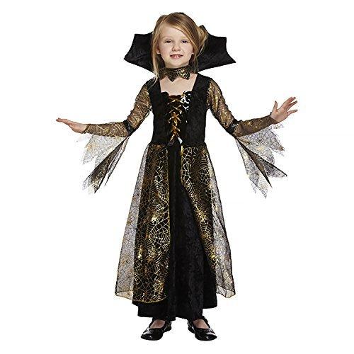 Salveo Girls Spiderella vampiro ragno costume da strega di Halloween vestito per 4 - 12 anni (7-9 anni)