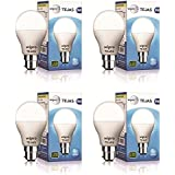 Wipro Tejas Base B22 9-Watt LED Bulb (Pack of 4, Cool Day Light)