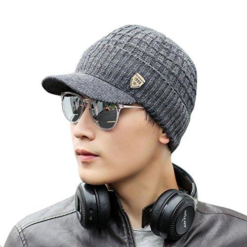 Saisiyiky gorros lana hombre invierno sombreros hombre