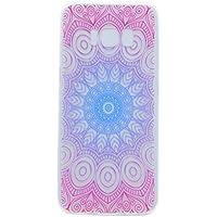 para la Cubierta de la Caja del teléfono Samsung Galaxy S8, HengJun Tótem Transparente TPU Gel de Silicona para teléfono Inteligente Samsung Galaxy S8 - Flores de Datura