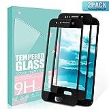 SGIN Verre Trempé Galaxy S7, [Lot de 2] 3D Touch Film en Verre Trempé écran Protecteur Vitre, Dureté 9H, Facile à Installer, Anti Rayures Protection Ecran Pour Samsung Galaxy S7 - Noir