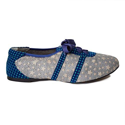 Cocorose London Scarpe Pieghevoli - Stratford Scarpe Donna Stelle & Blue