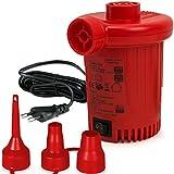 Deuba Elektrische Luftpumpe Elektropumpe | inkl. 3 Aufsätze | mit Netzstecker | Zum auf- und Abpumpen